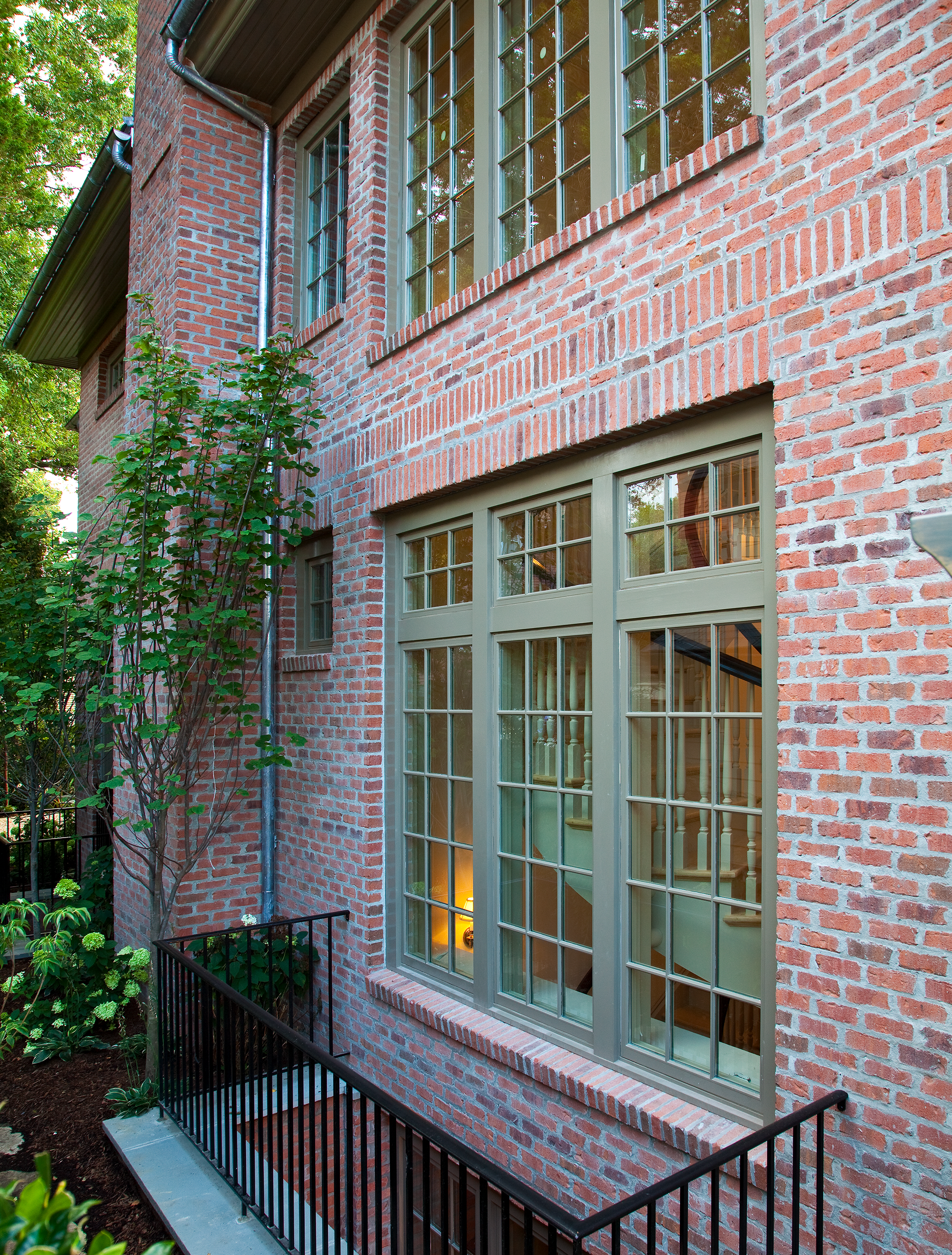 Brick Siding and Basement Stairwell
