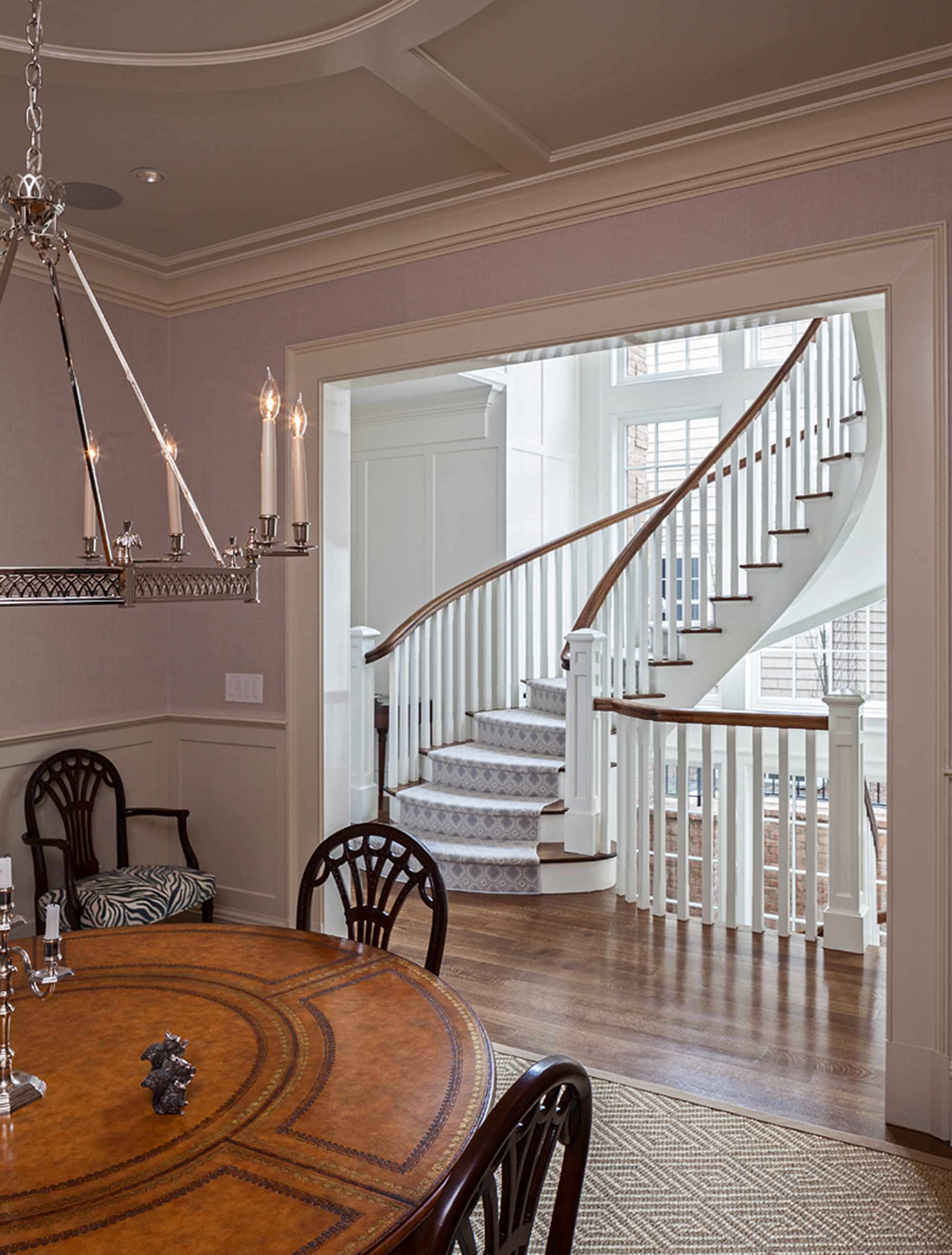 Staircase and Dining Room Table