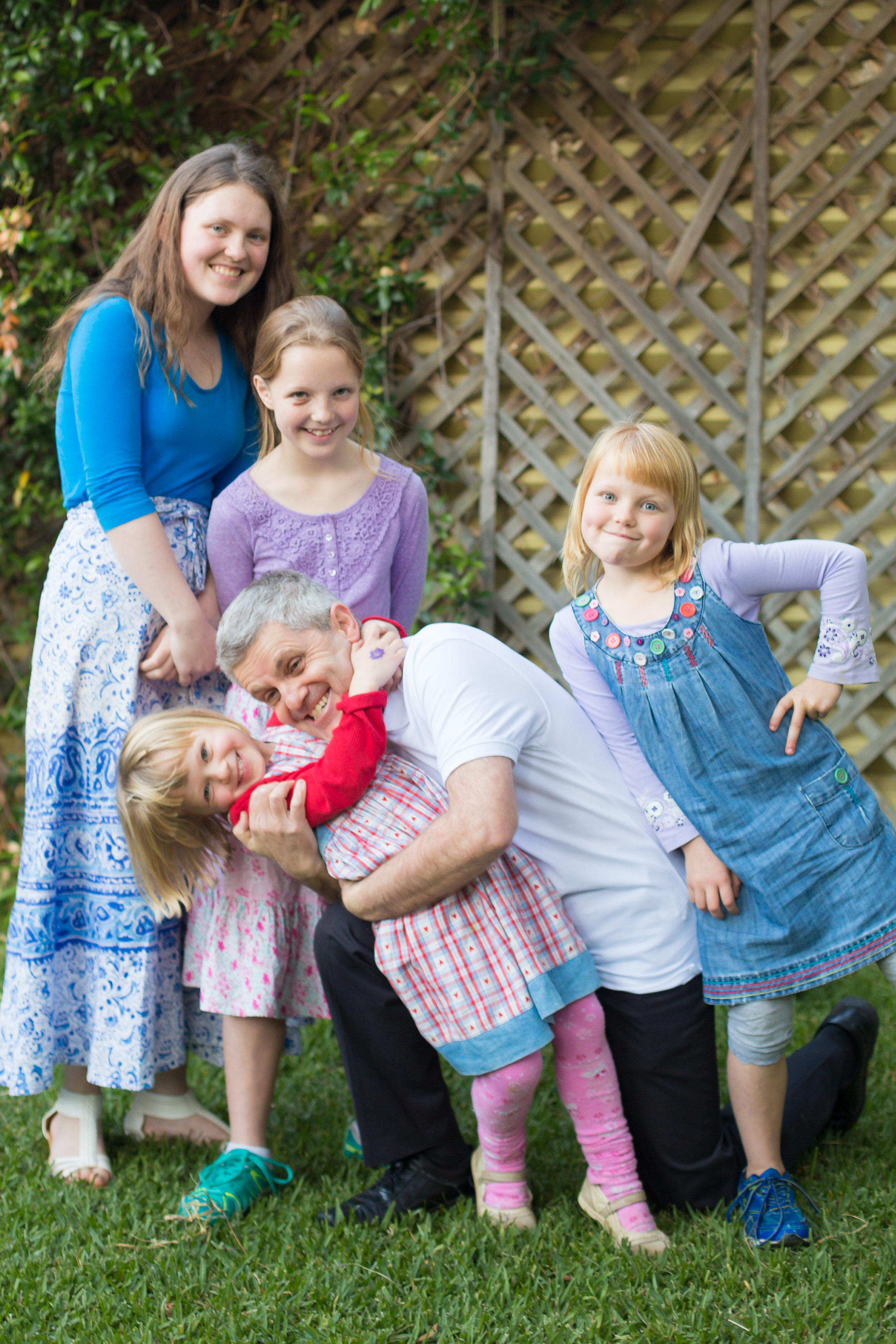 Four of my seven beautiful children - keeping dad young (at least at heart)! They are the most cunning negotiators in the world, using everything from emotional blackmail to sweet promises to make you go their way.