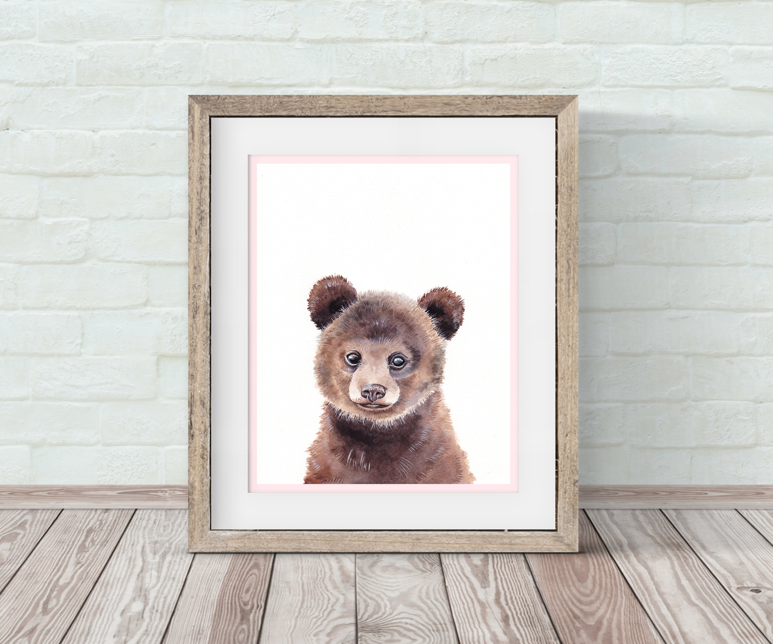 Baby Bear Nursery Wall Art By