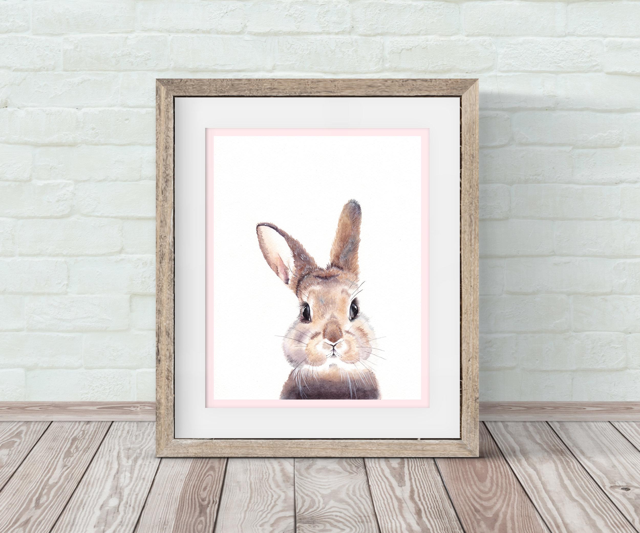 Baby Bunny Nursery Wall Art By Emily Lemoine