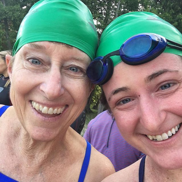 🏊🏻‍♀️🌟We swam a mile for hospice! This is absolutely one of my favorite North Country events, and swimming concertedly since February definitely paid off: I was far faster and stronger this year, and my swimming superstar mother only edged me out by a few minutes! It's such a joy to cut through the Raquette River powered by your body and without interruption from motor boats or jet skis, and Hospice of St. Lawrence County, @clarksonuniv clarksonuniv PA students, and local EMS providers did such a great job making sure the event was safe and fun for all. This year's prize: tie-dyed t-shirts, and a satisfying swim in support of a good cause! ☀️