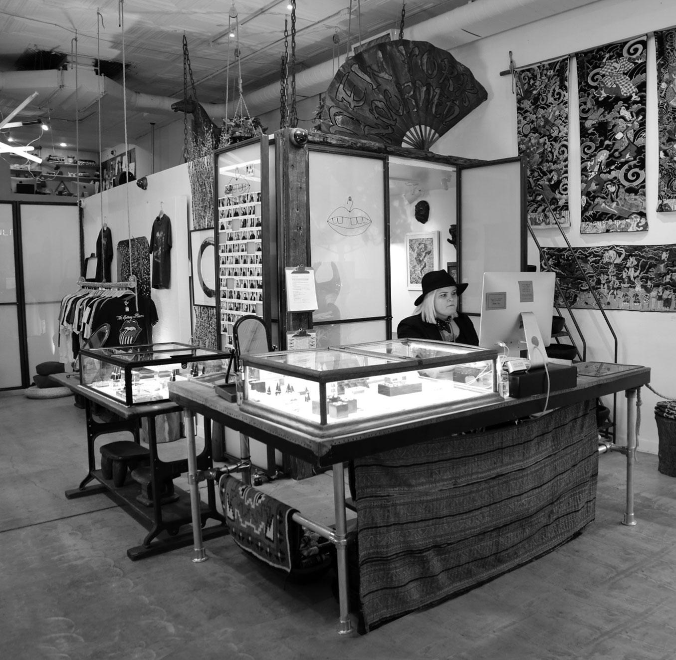New York Adorned reception area