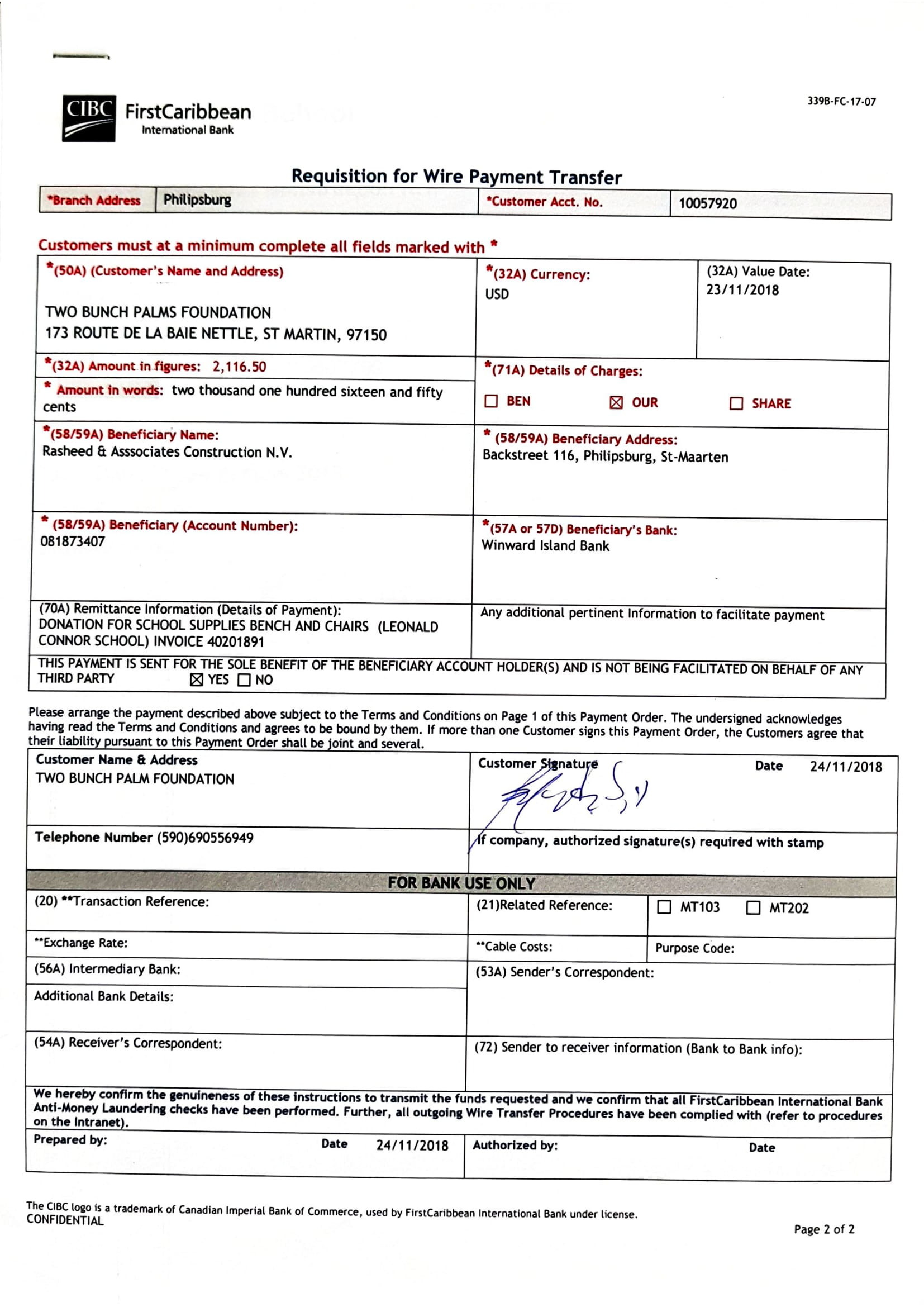 Payement To Rasheed & Associate for Léonard conner school-1.jpg