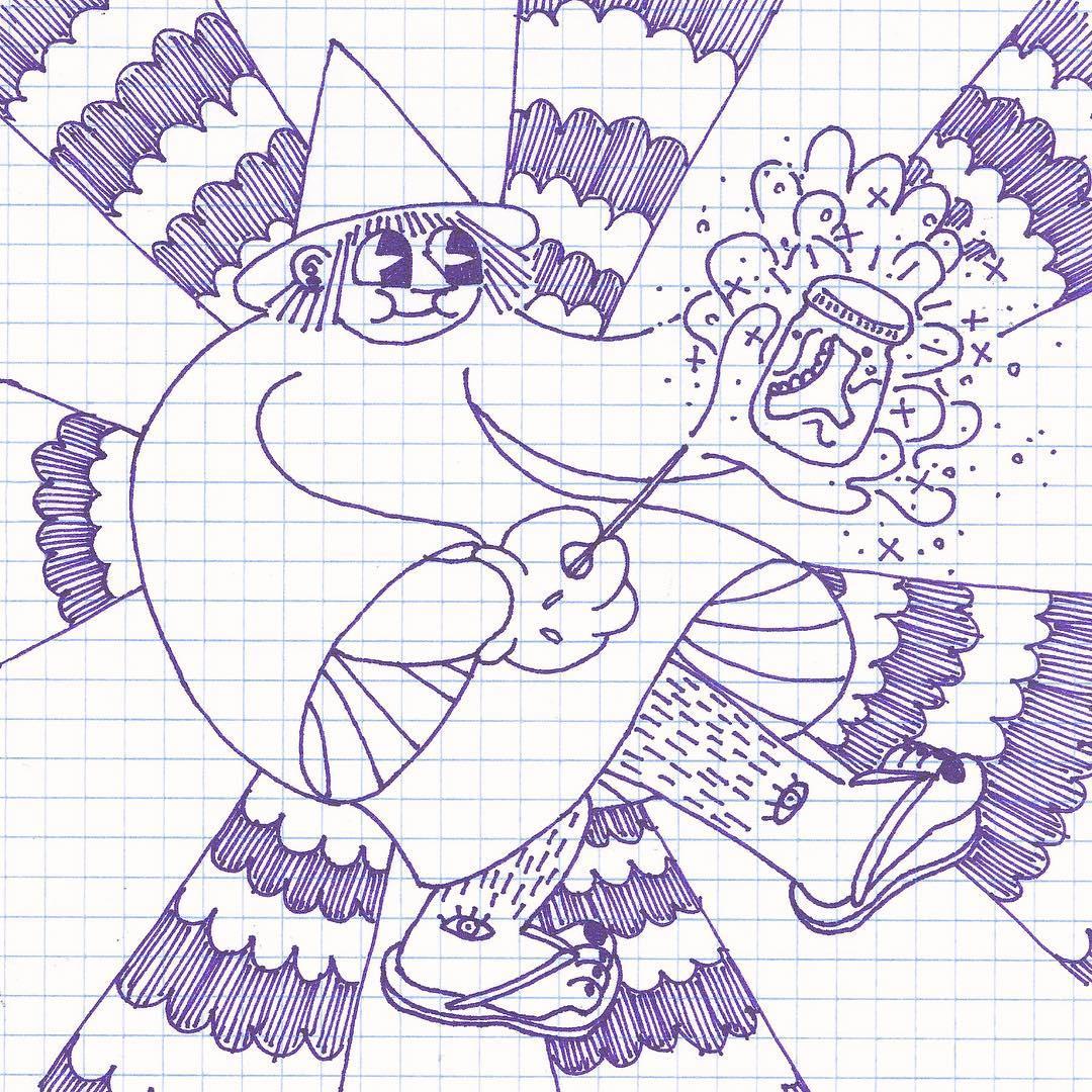 "'Spell / una bruja haciendo aguêpanti"",  Lia Sued"