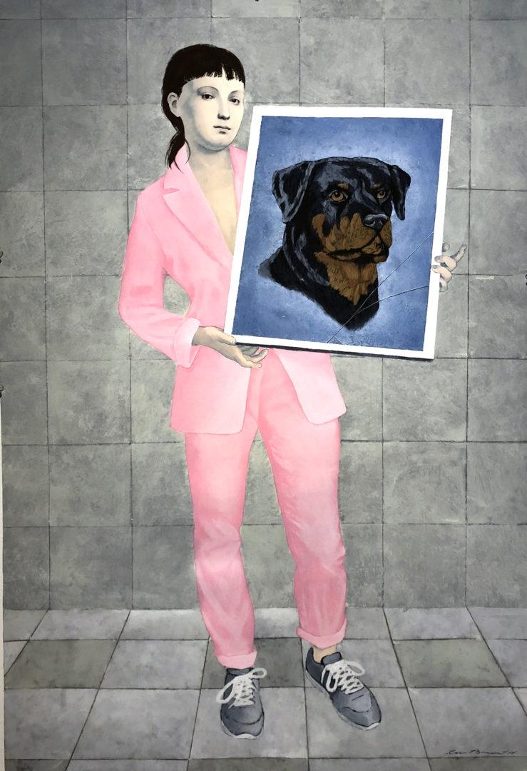 """""""Posado retrato con perro"""" , 2018"""