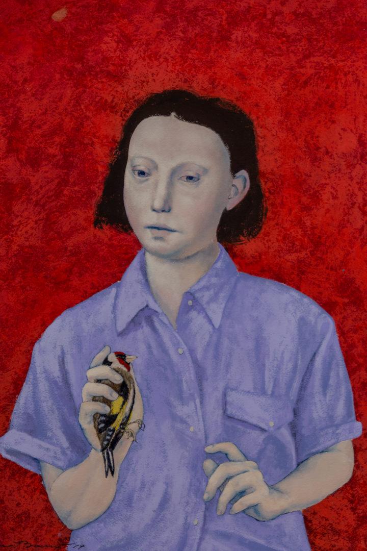 """""""Retrato con jilguero"""" , 2018"""
