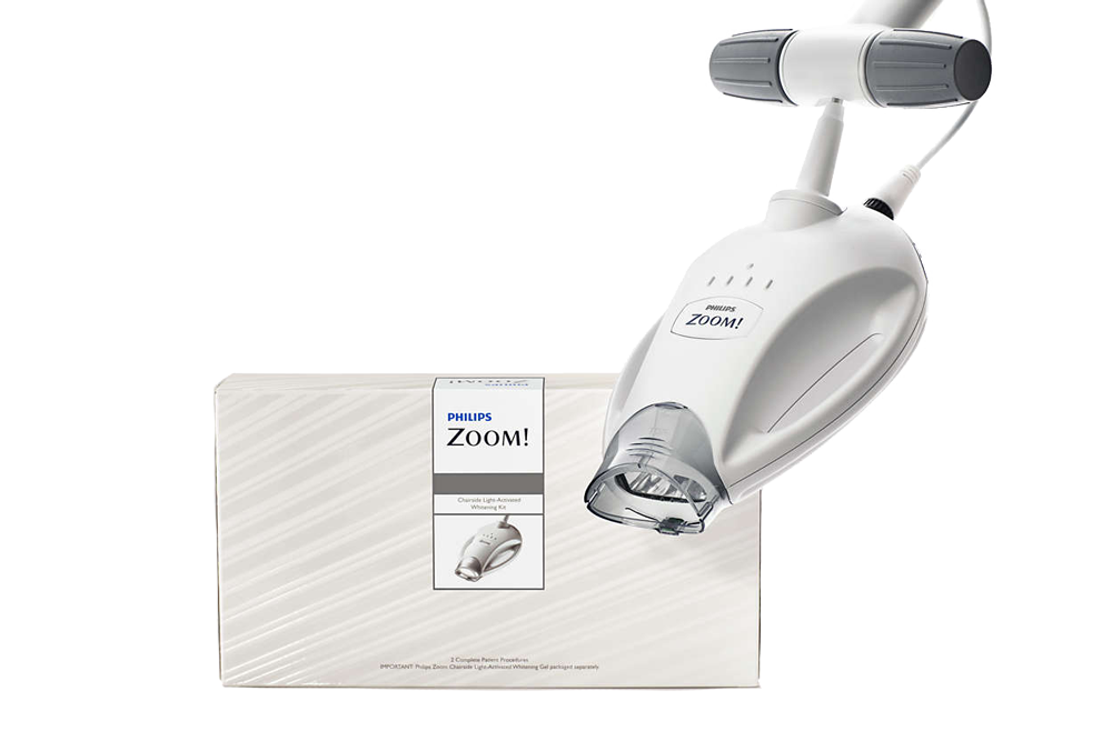 Why choose Zoom! teeth whitening? - Instant and dramatic teeth whitening results in just 90 minutes.Lighten your teeth up to 6 shades in just one treatment.Post treatment sensitivity hardly ever an issue.Philips is a trusted brand, renowned for their knowledge and experience in professional teeth whitening.
