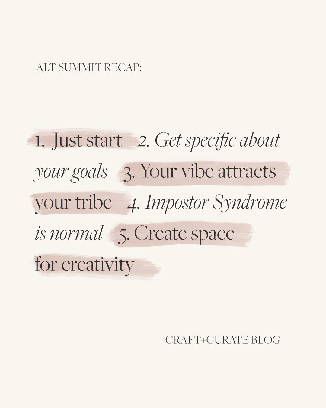 Craft and Curate- Alt summit recap