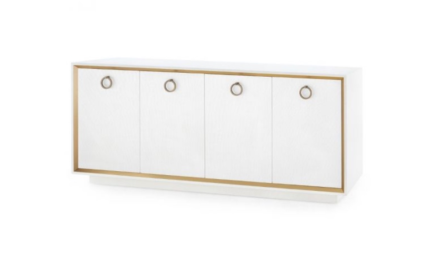 Chic dining room sideboard with gold detailing from Bungalow 5