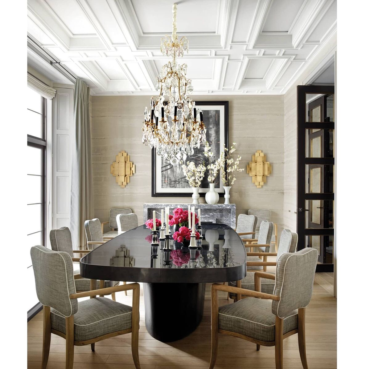 Dining room ,mix of modern and classic elements