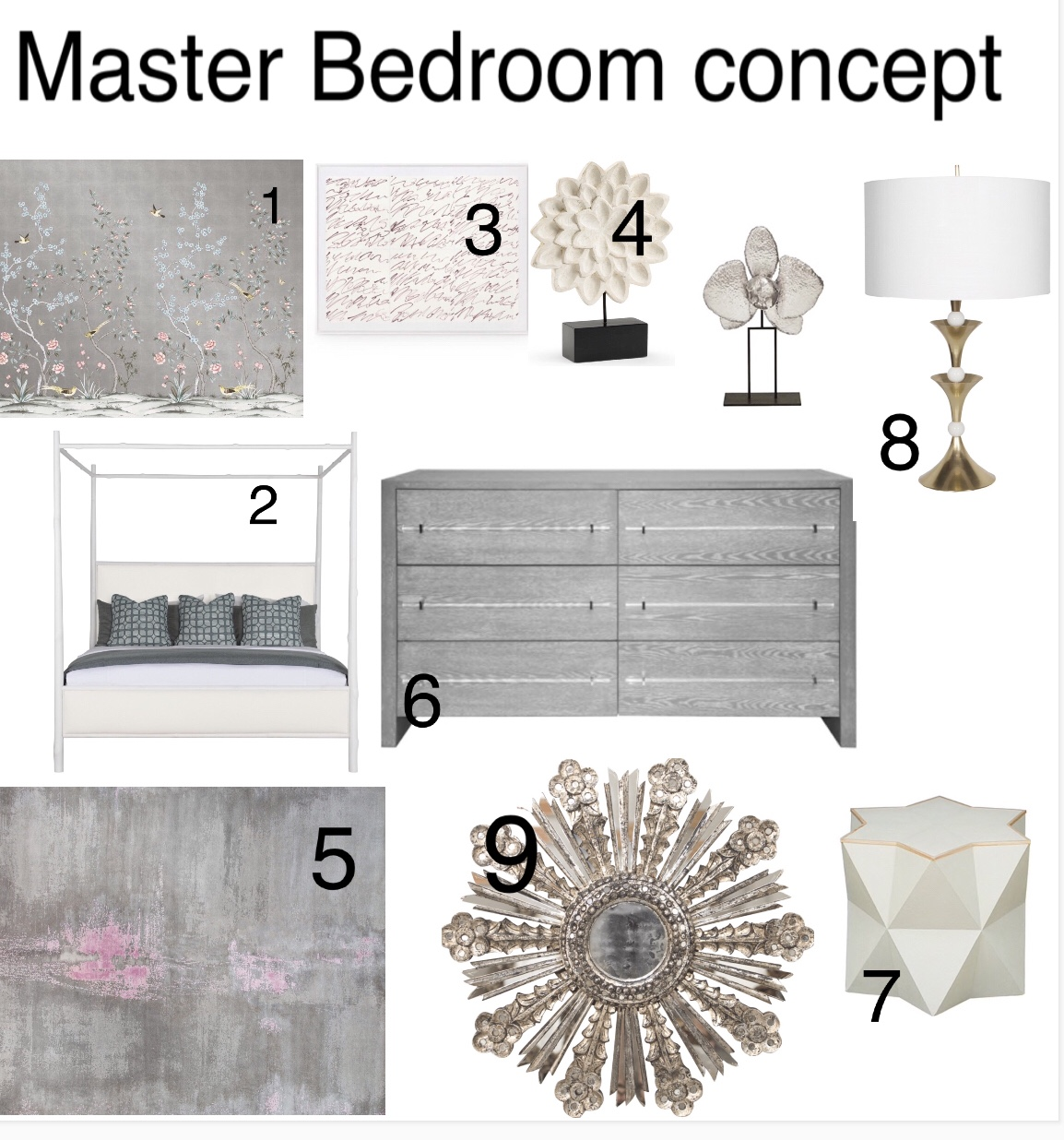 Modern concept for Master bedroom design, with some eclectic decor