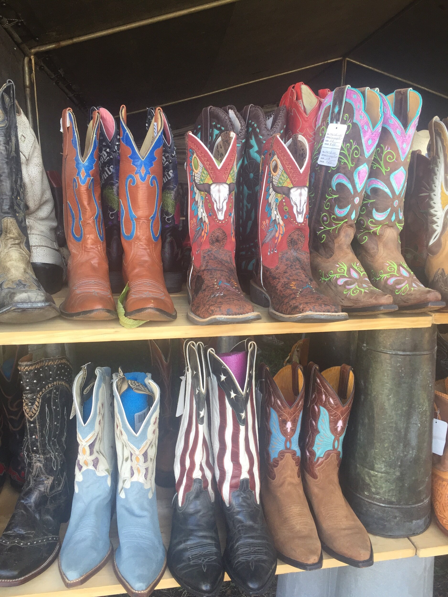When in Texas you got to have fun cowboy boots!