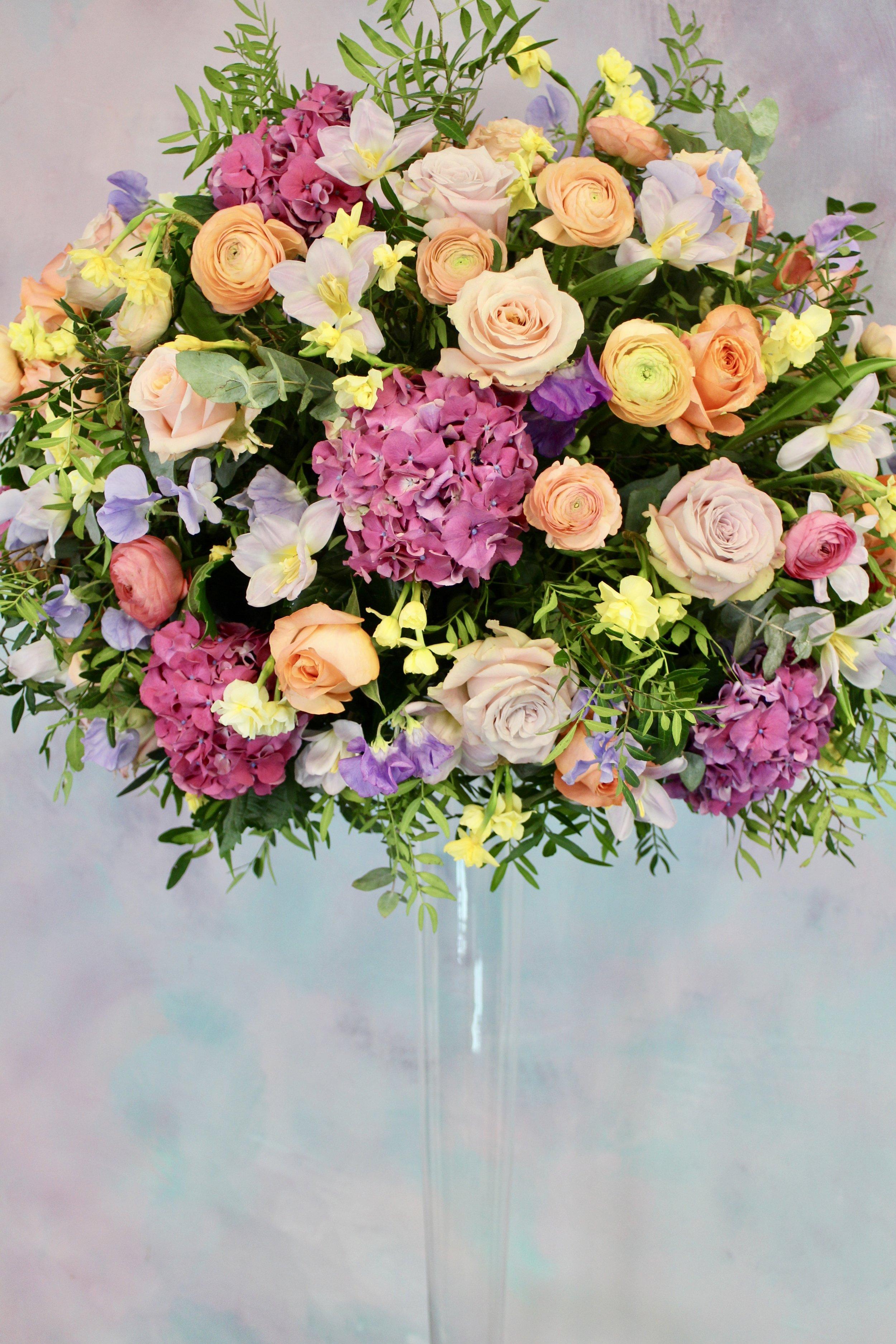 A bride's mock up flowers.
