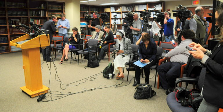 The DA's press office serves local, national, and international news organizations