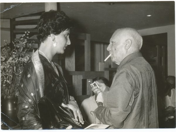 SOSHANA AND PICASSO (1962)  SOSHANA'S PRIVATE PHOTO COLLECTION