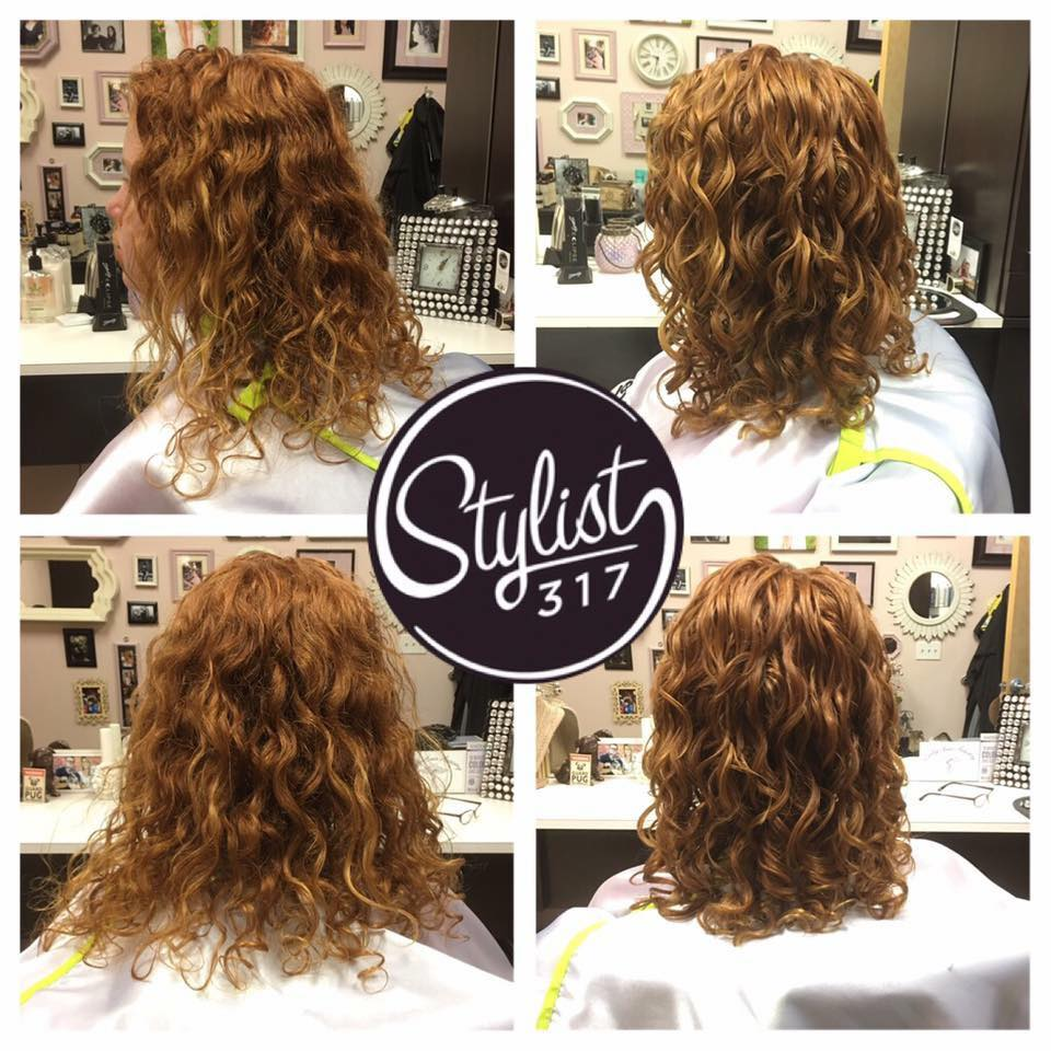 Curly Hair Before and After