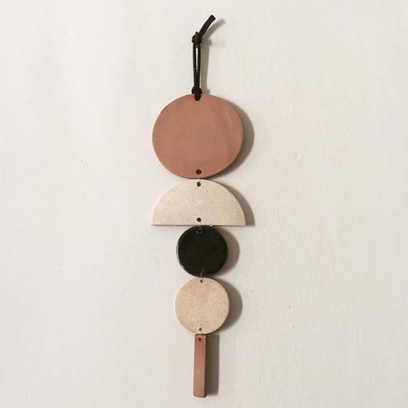 Clay Wall Art // Ceramic Wall Hanging // Geometric Art
