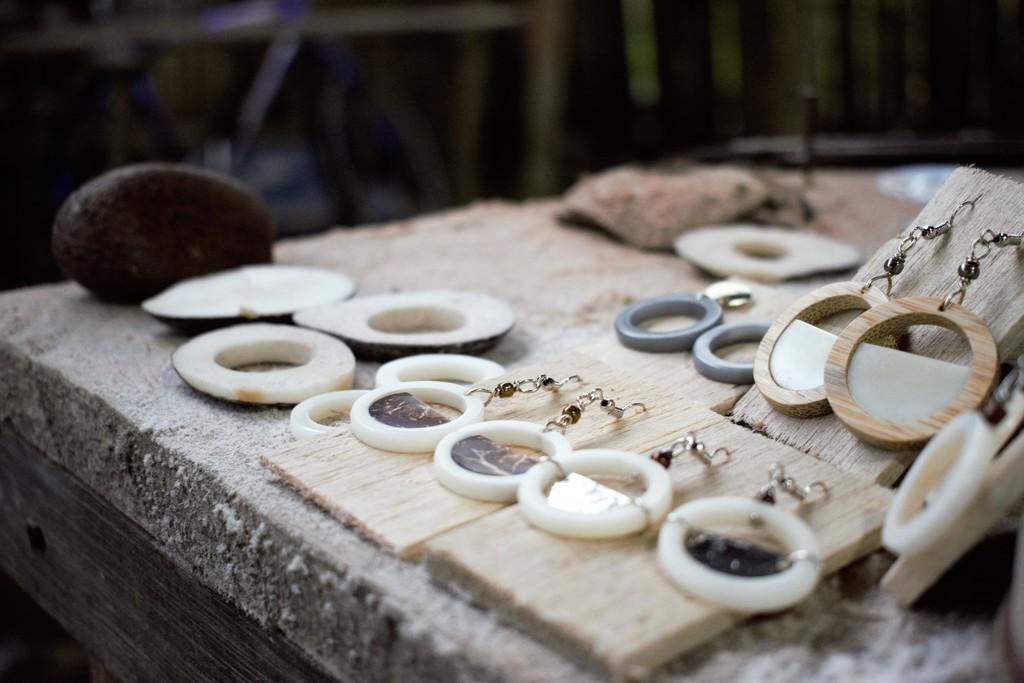 Organic Earrings // Tagua // Coconut // Bamboo // Drop Earrings