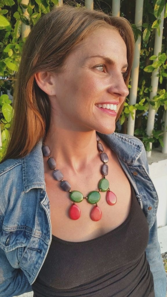 Organic Jewelry // Tagua // Natural // Drop Necklace