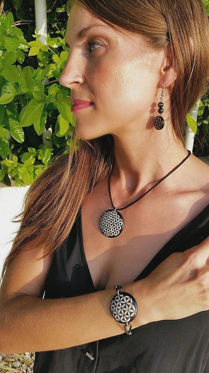 Organic Jewelry // Natural // Tagua // Black Jewelry Set