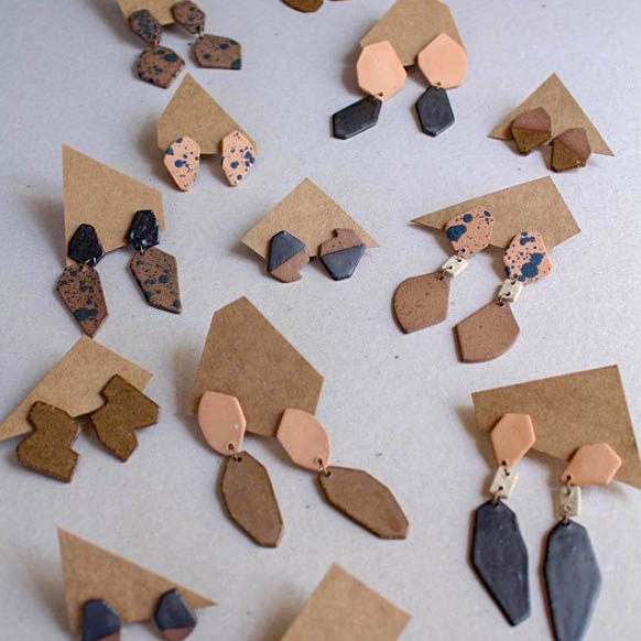 Clay Earrings // Sustainable Fashion // Ceramic // Drop Earrings