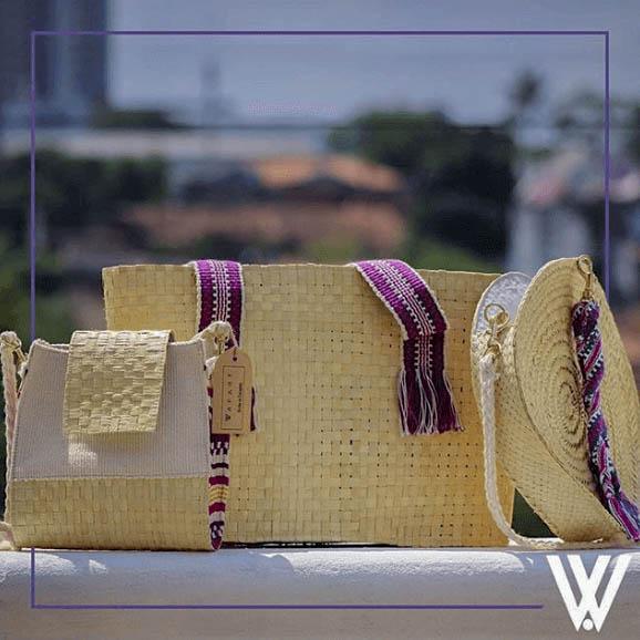 Summer Bag // Clutch // Round Purse // Beach Bag // Palm