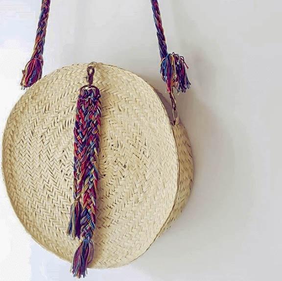 Palm Purse // Crossbody Purse // Round Bag // Natural Color Purse