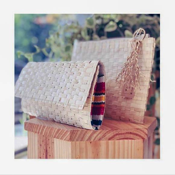 Clutch // Handbag // Palm Leaf
