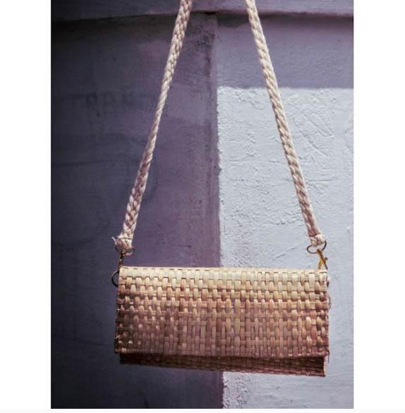 Palm Leaf Clutch Purse // Casual // Summer Purse