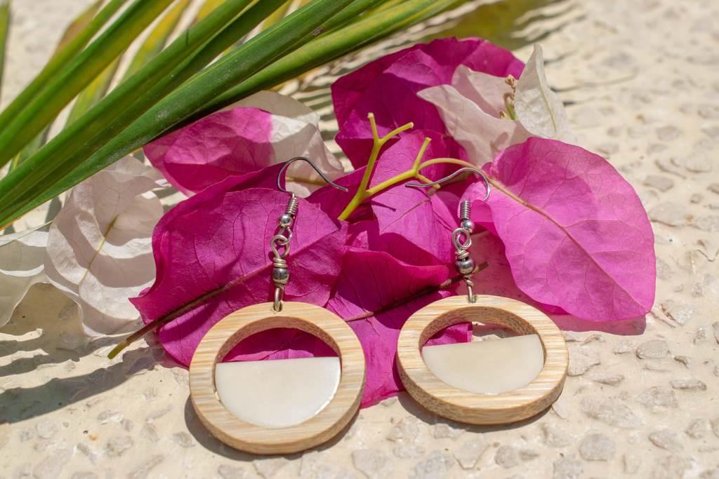 Organic Earrings // Bamboo // Tagua