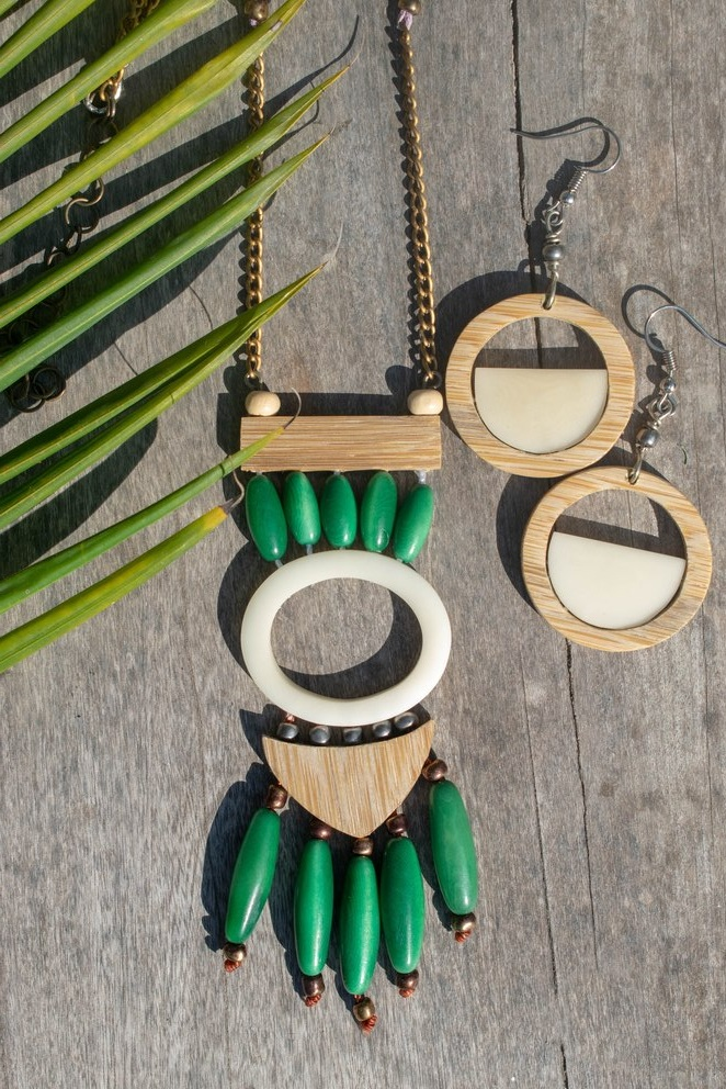 Organic Jewelry // Tagua // Bamboo Jewelry Set