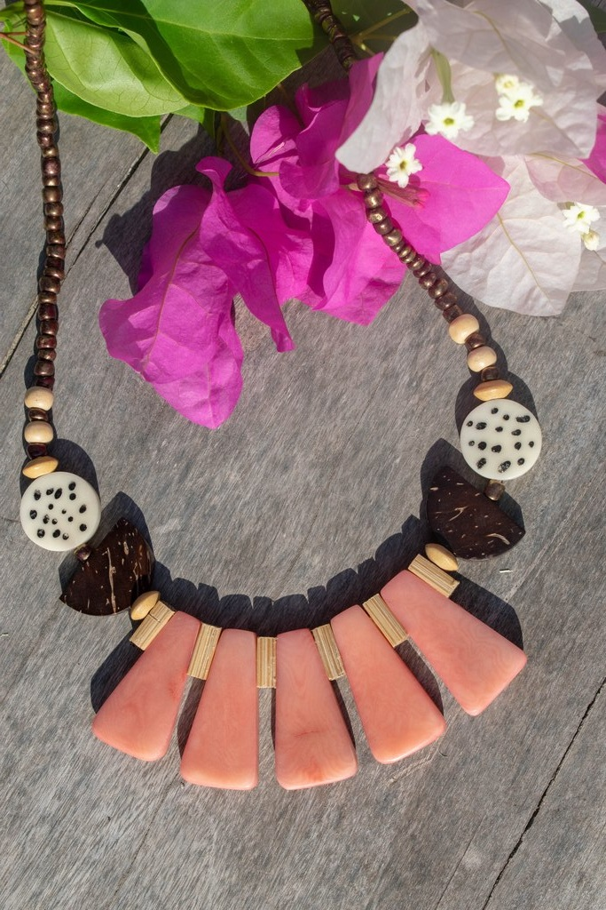 Organic Jewelry // Tagua // Coconut Necklace