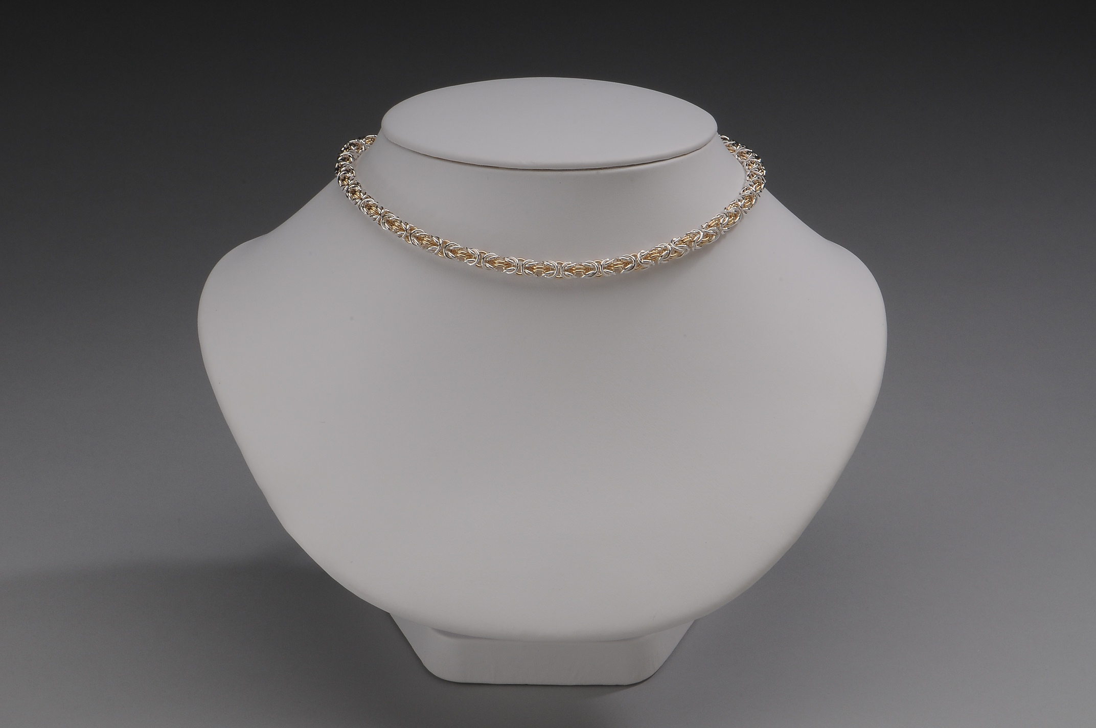 Delicate Two Tone Byzantine Collar