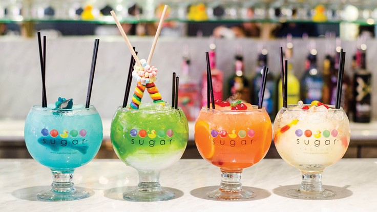 Sugar Factory - Sugar Factory American Brasserie is a 9,000-square-foot space offering both sweet and savory American culinary classics to the Parkway Bank Park, Entertainment District in Rosemont. Guests can enjoy a dazzling retail store and ice cream shop offering a rainbow array of specialty candies, a café menu and gifts.