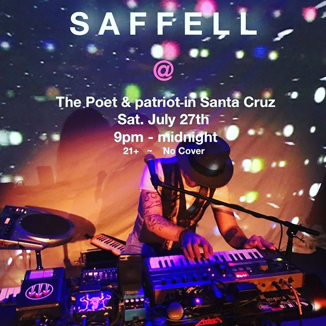 This Sat I'll be playing at @poetandpatriot in Santa Cruz 9pm-Midnight!  #santacruz #santacruzlivemusic #livelooping #saffellmusic #consciousmusic #soulfulmusic #music #downtownsantacruz #poetandpatriotpub #poetandpatriotsantacruz #groove