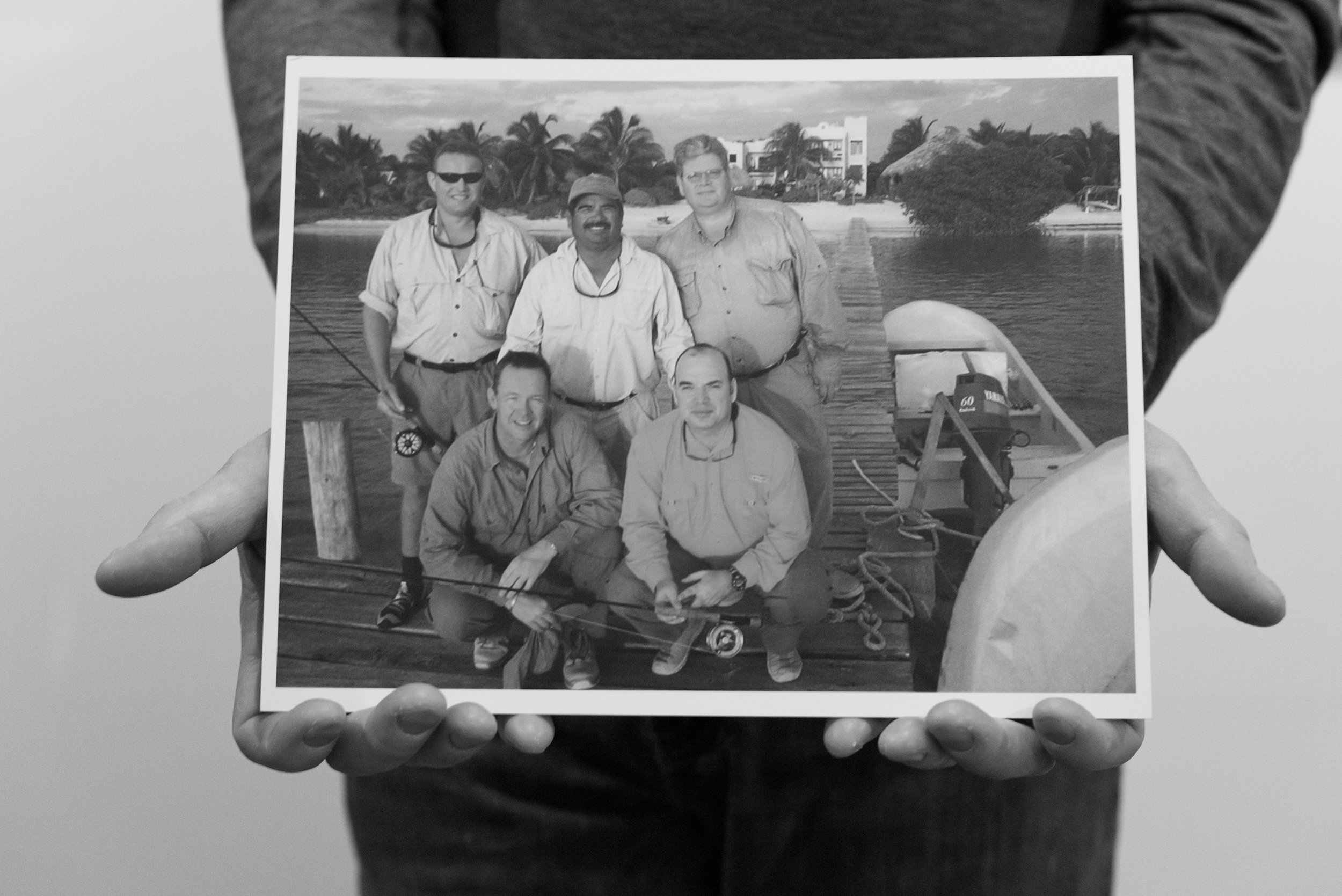 Ron and Friends in xcalak, mexico. - Photographer unknown.
