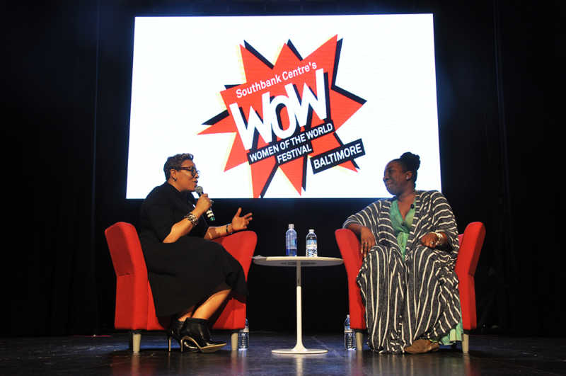Tarana Burke during the Keynote Speech.  Photo by Micah Castelo.