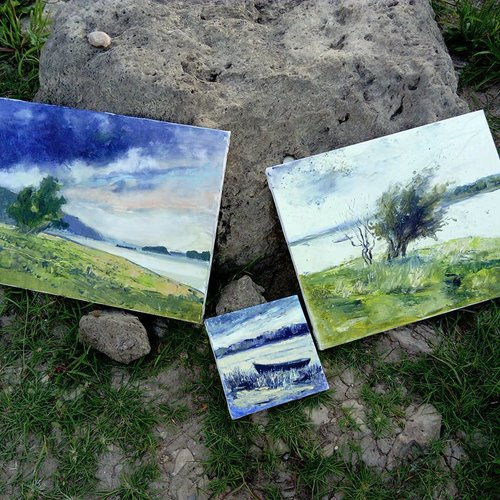 Works from a plein air session