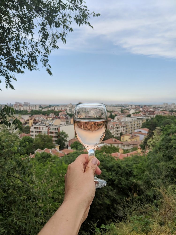 Cheers to Plovdiv from one of the famous hills