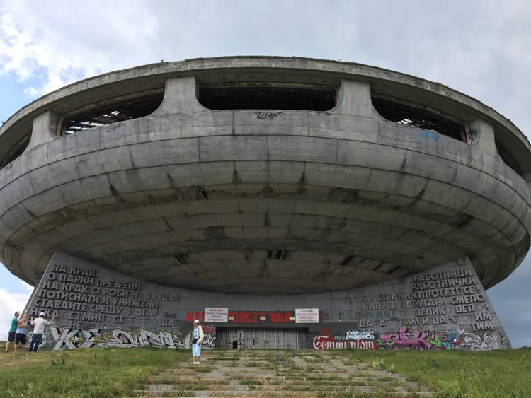 The communist monument Buzludzha is often compared to an UFO