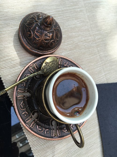 Turkish Coffee with Cardamom at Lime in Sofia