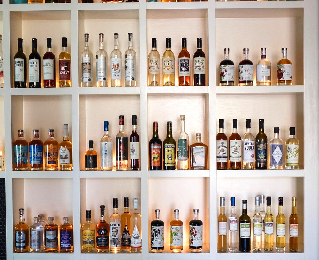 Just a few of the local spirits made in PDX.  Courtesy of Victoria Bar