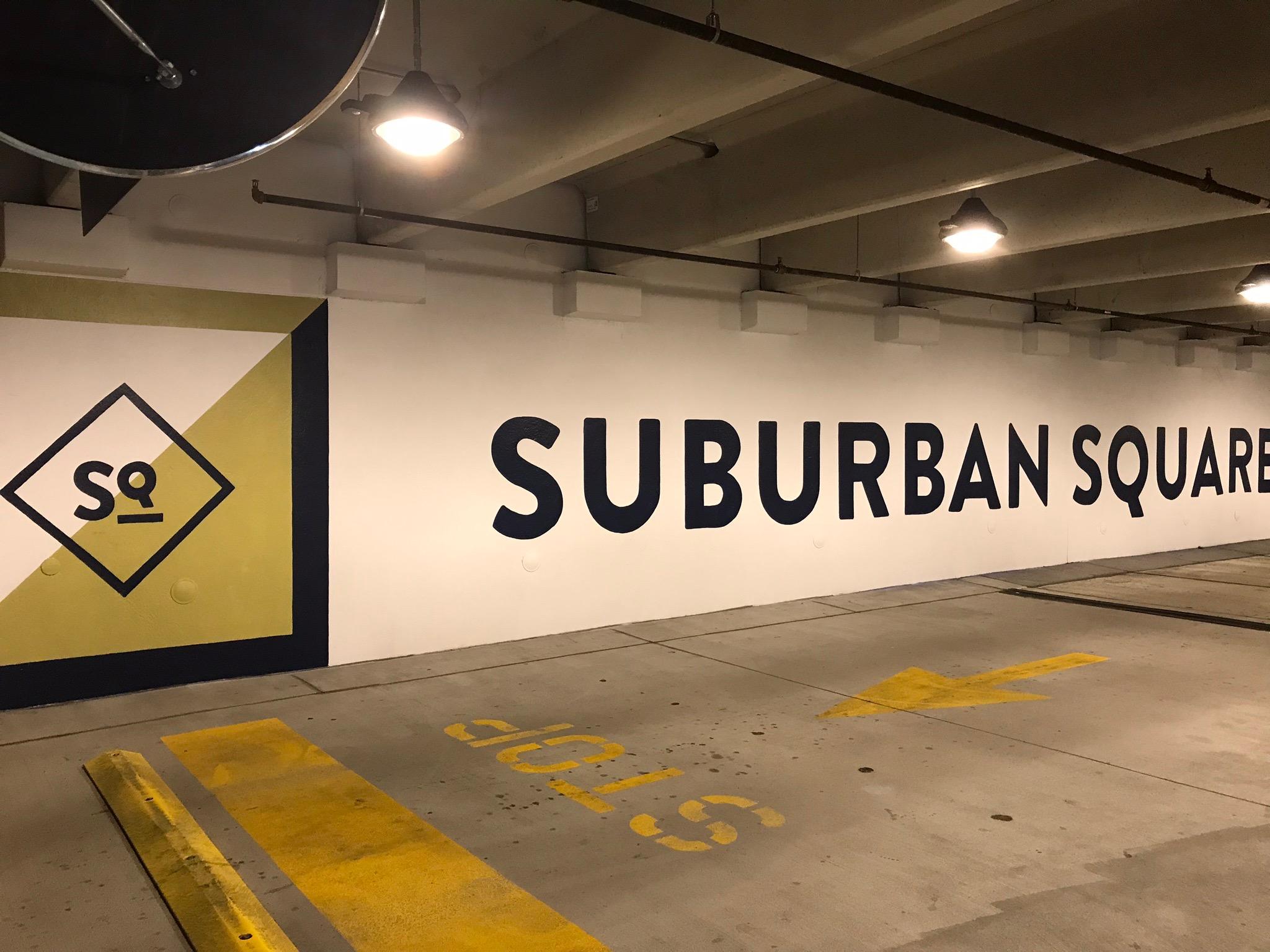 Suburban Square Garage graphics & signage
