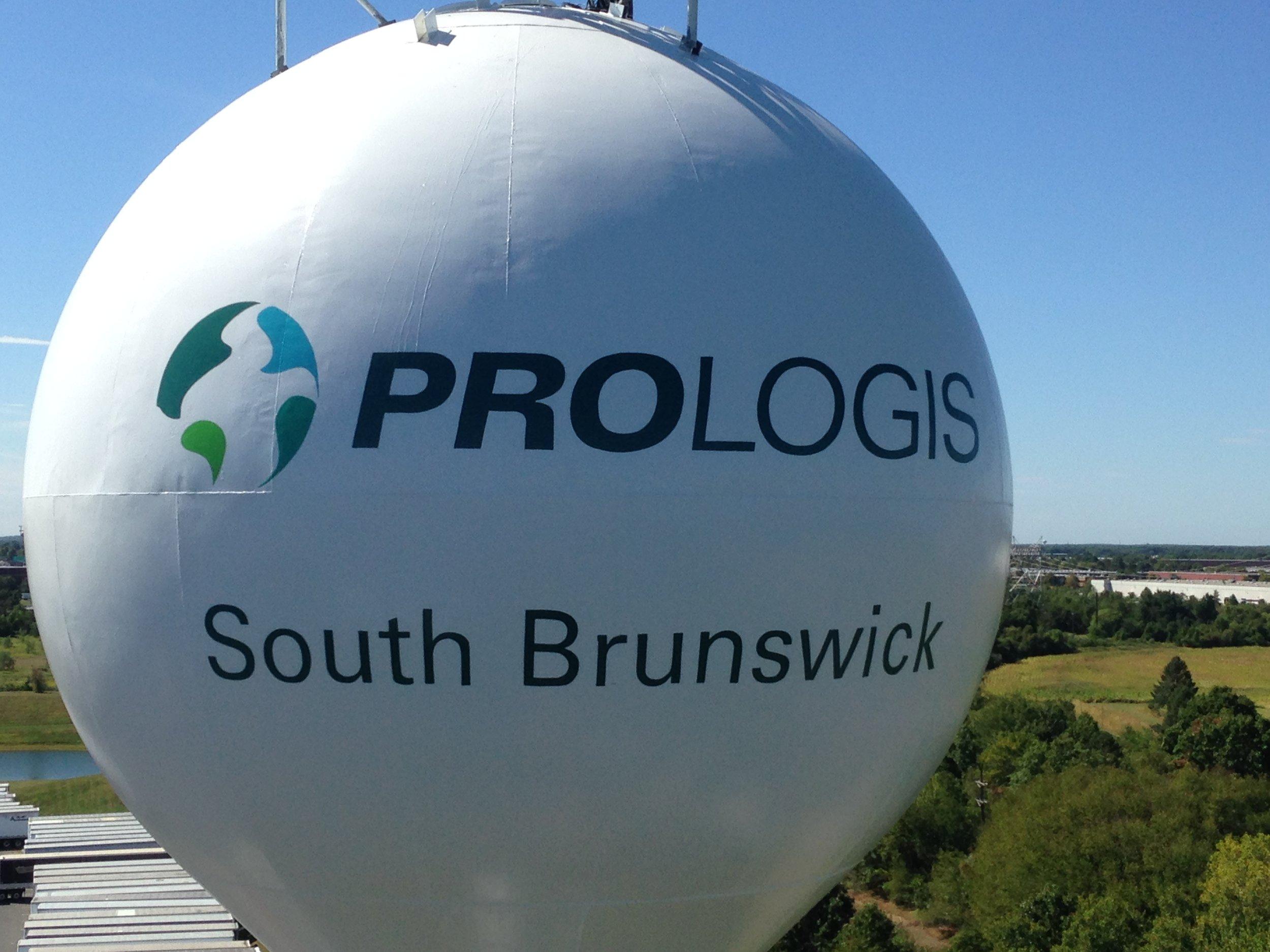 Prologis water tower logo painting, Cranbury NJ