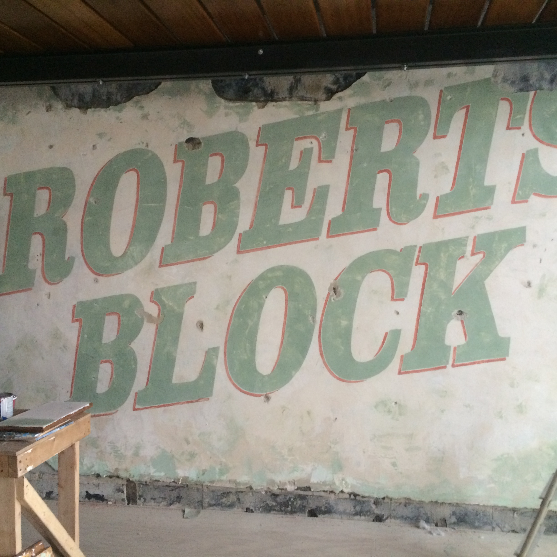 Roberts Block Restaurant mural