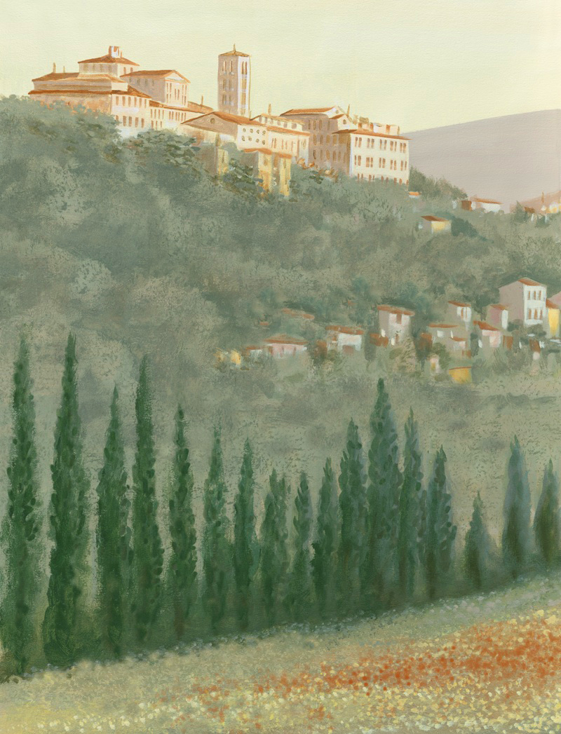 Tuscan landscape mural Portofino Restaurant Philadelphia PA
