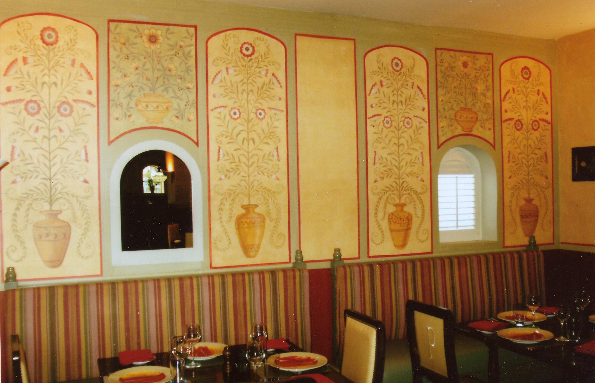 Hand painted wall panels, Wayne PA
