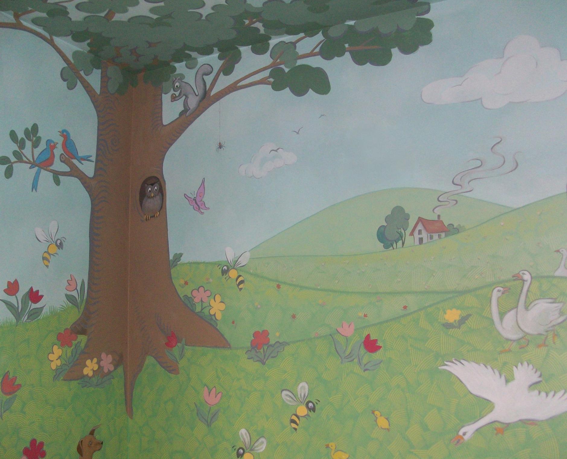 Painted nursery mural, private residence, Philadelphia