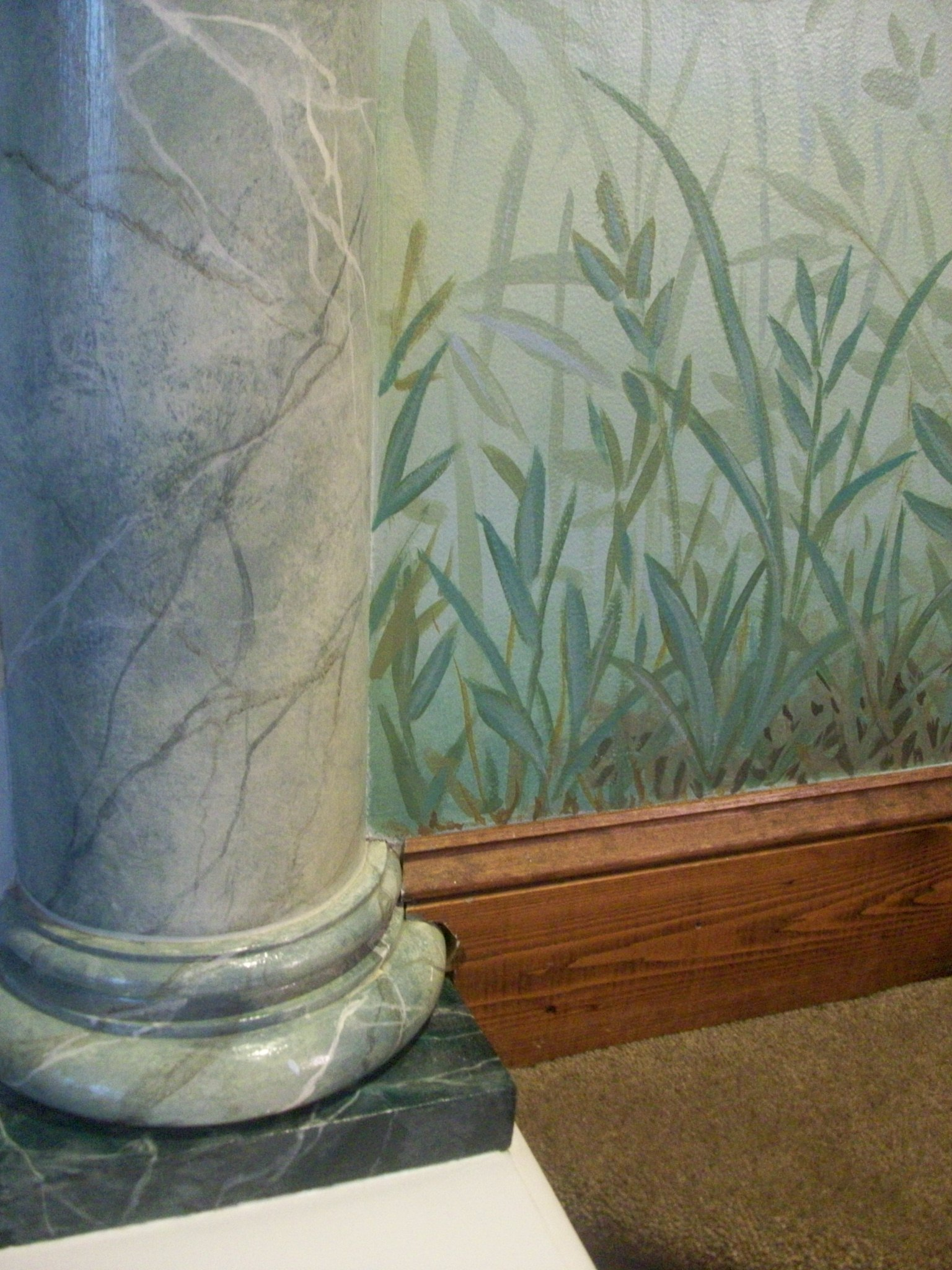 faux marble and decorative painting,  private residence, Philadelphia, PA